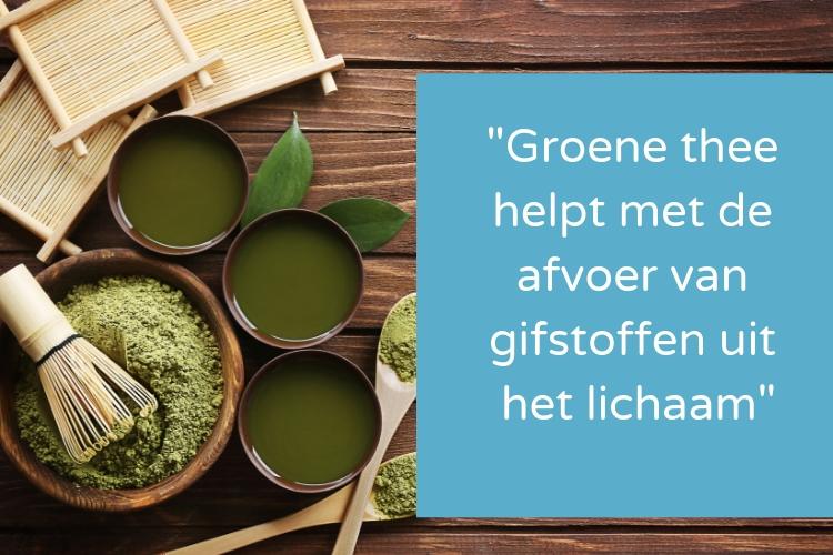 Groene thee lichaam ontgiften