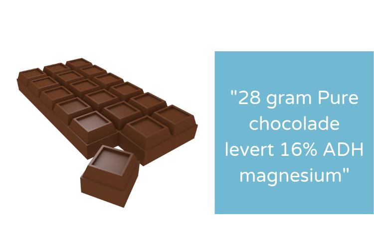 pure chocolade en magnesium